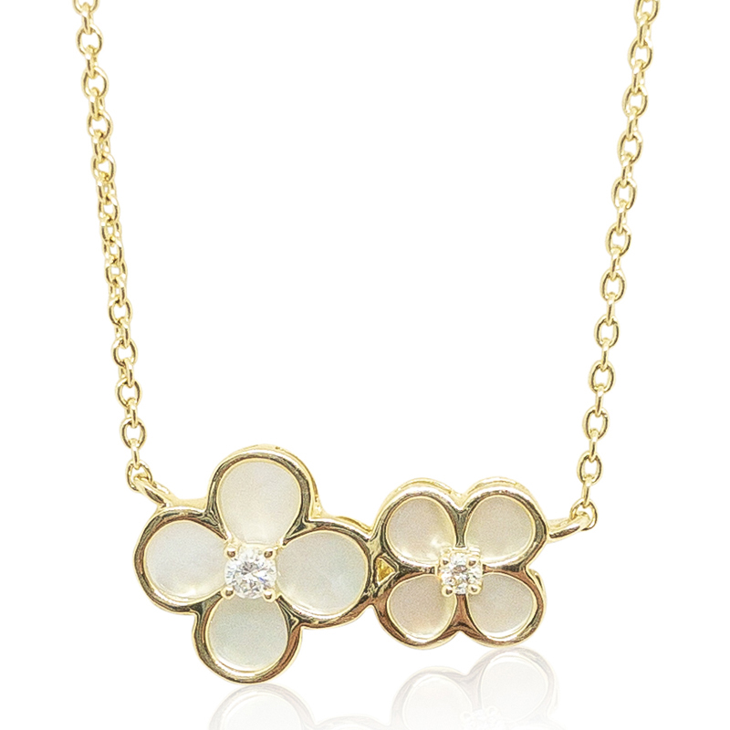 Mother-of-Pearl Clover Pendant