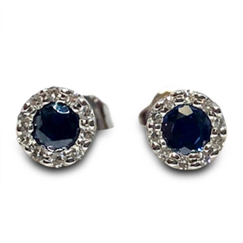 Dark Blue Sapphire Studs