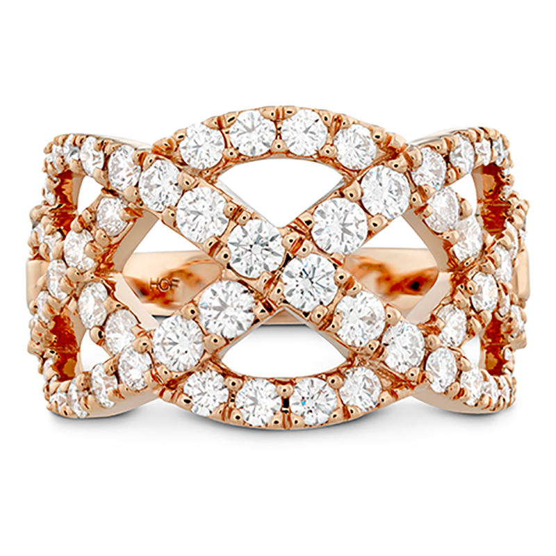 Intertwining Diamond Band- Rose