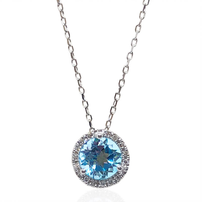 Light Blue Topaz Pendant