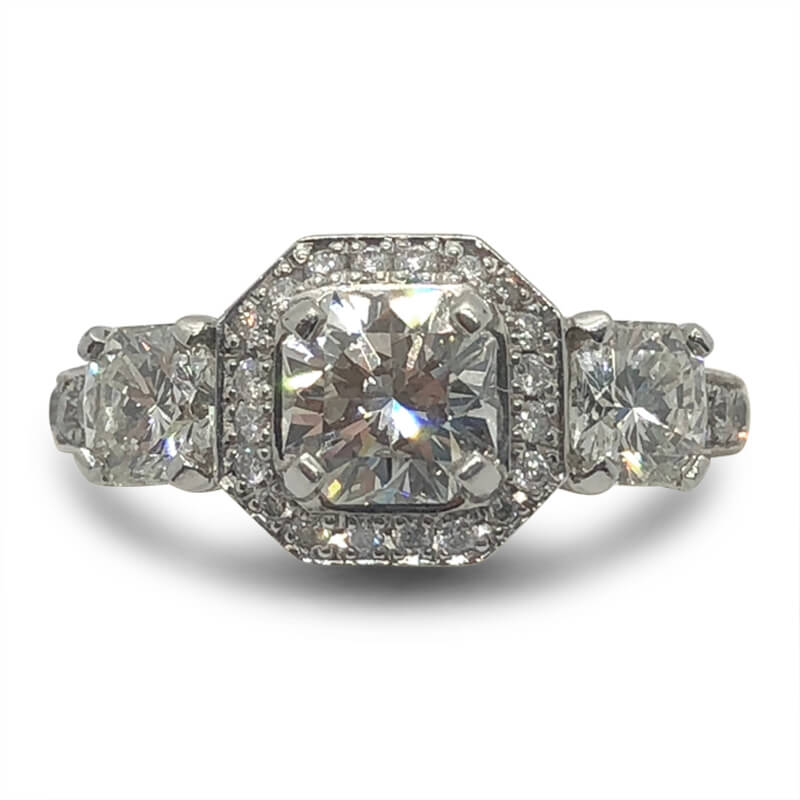 Platinum Three Elara Diamond Ring