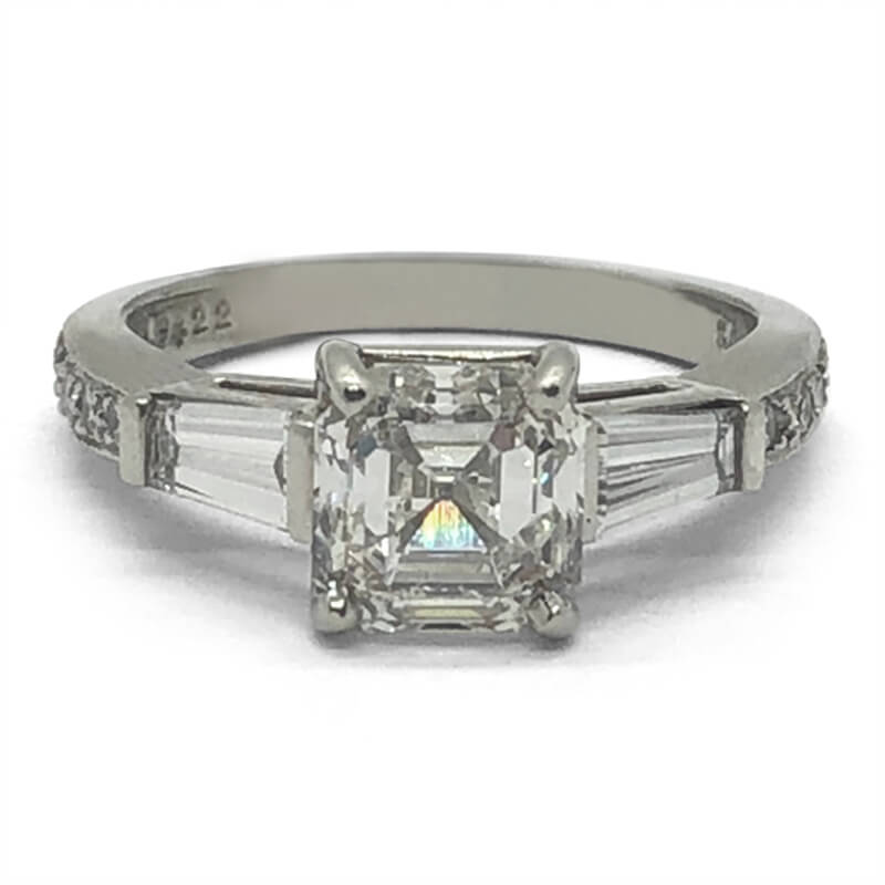 2.00ct. Asscher Cut Engagement Ring