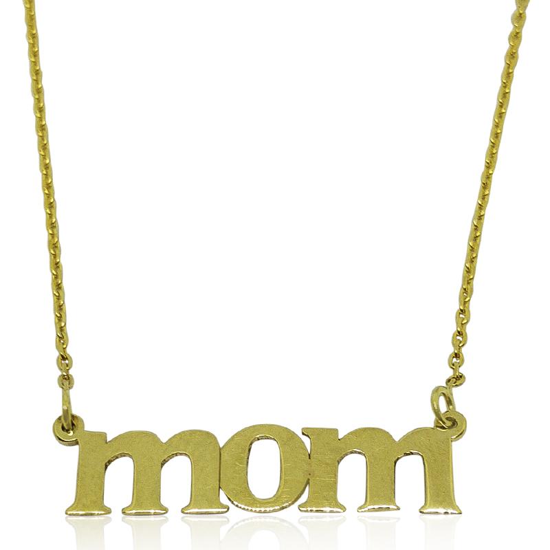 """""""Mom"""" Typewriter Style Necklace"""