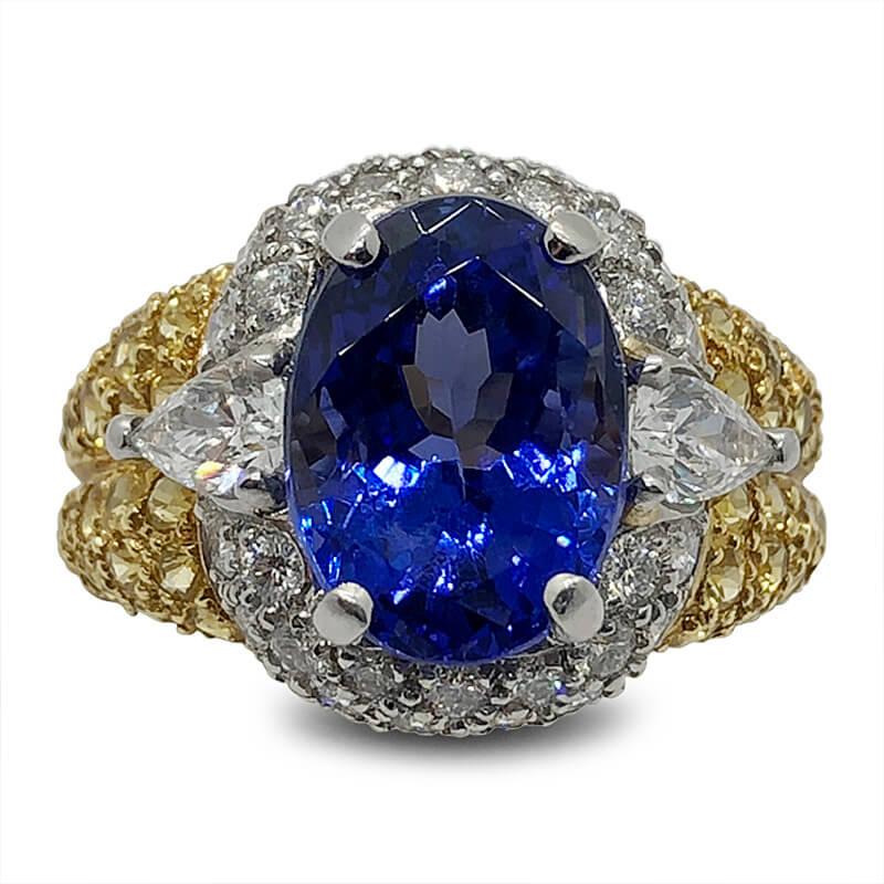 Tanzanite & Yellow Sapphire Ring