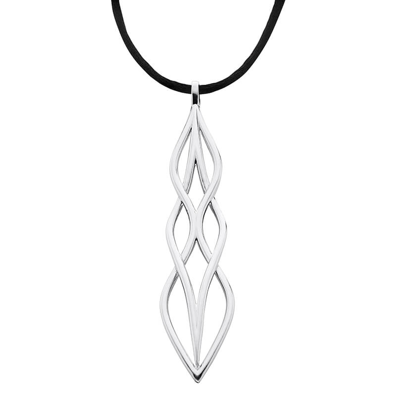 Black Cord Sterling Pendant