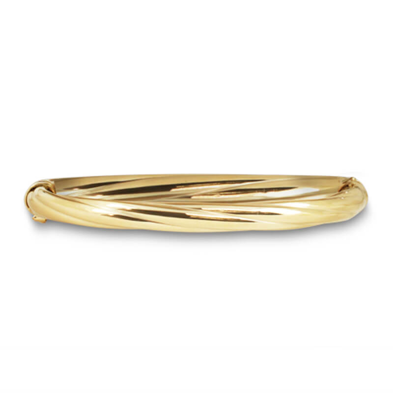 Yellow Twisted Bangle