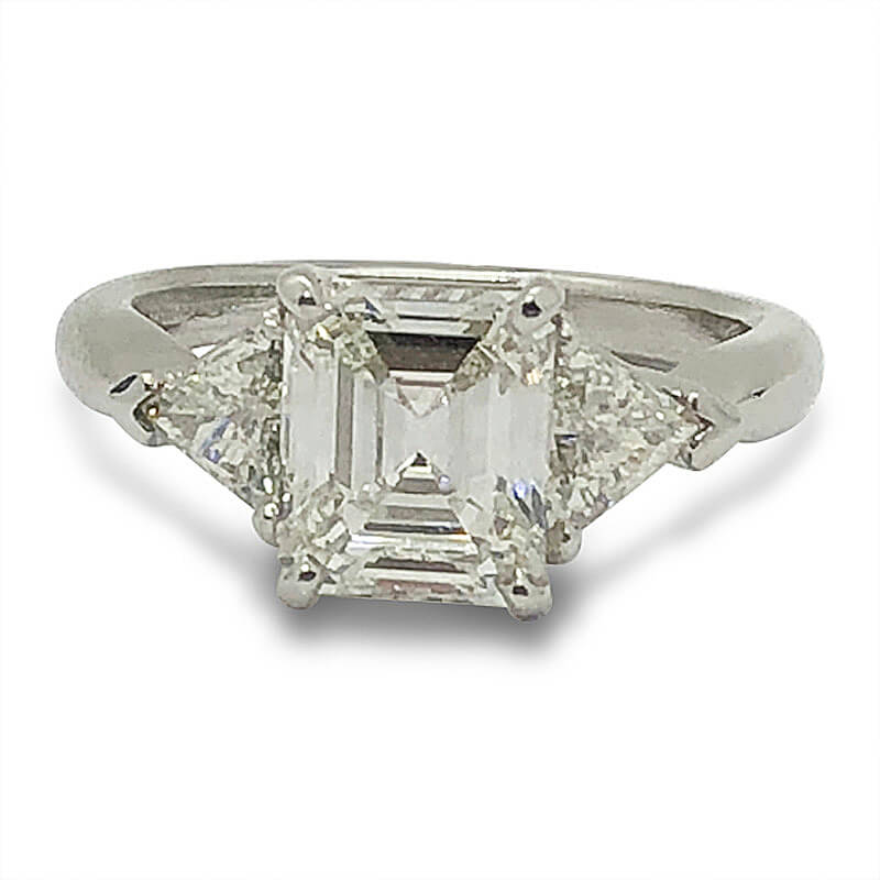 Handmade Emerald Cut Engagement Ring