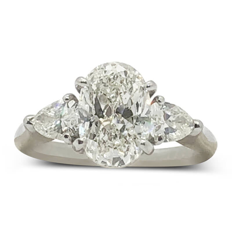 Oval & Pear Shaped Diamond Engagement Ring