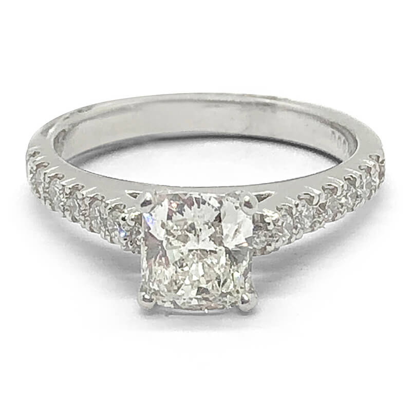 Solitaire Cushion Cut Diamond Ring