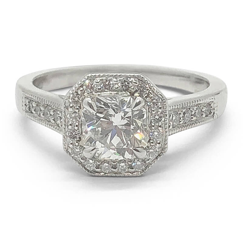 Octagonal Elara Diamond Ring