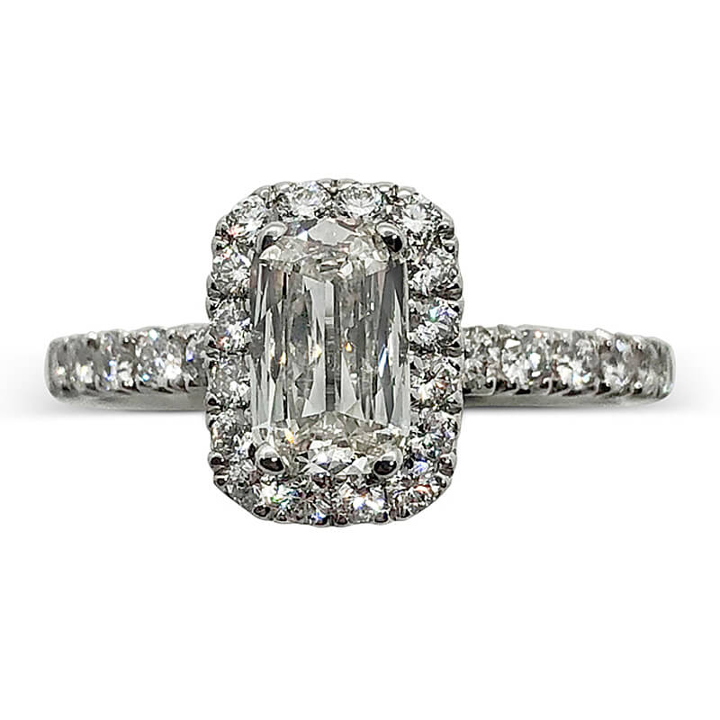 Diamond Cushion Cut Engagement Ring