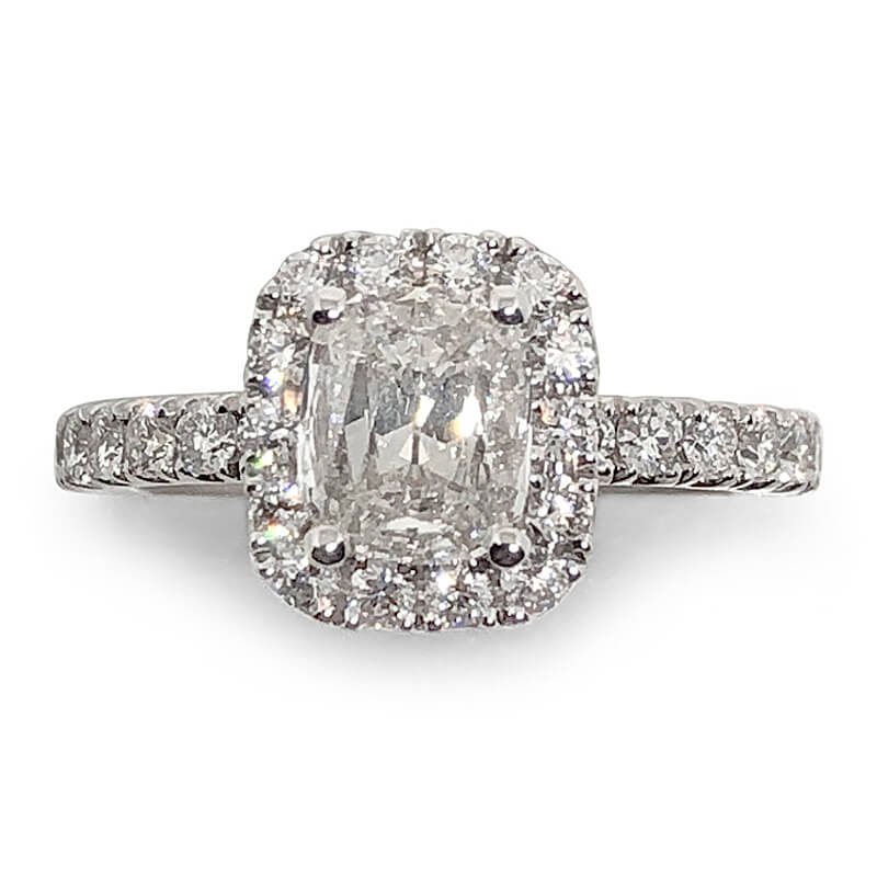 Cushion Diamond Halo Ring