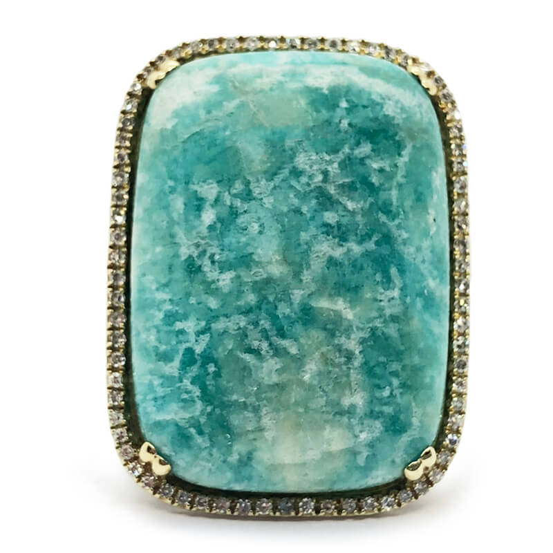 Yellow Gold Amazonite Ring