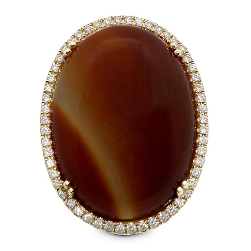 Cabochon Carnelian Ring