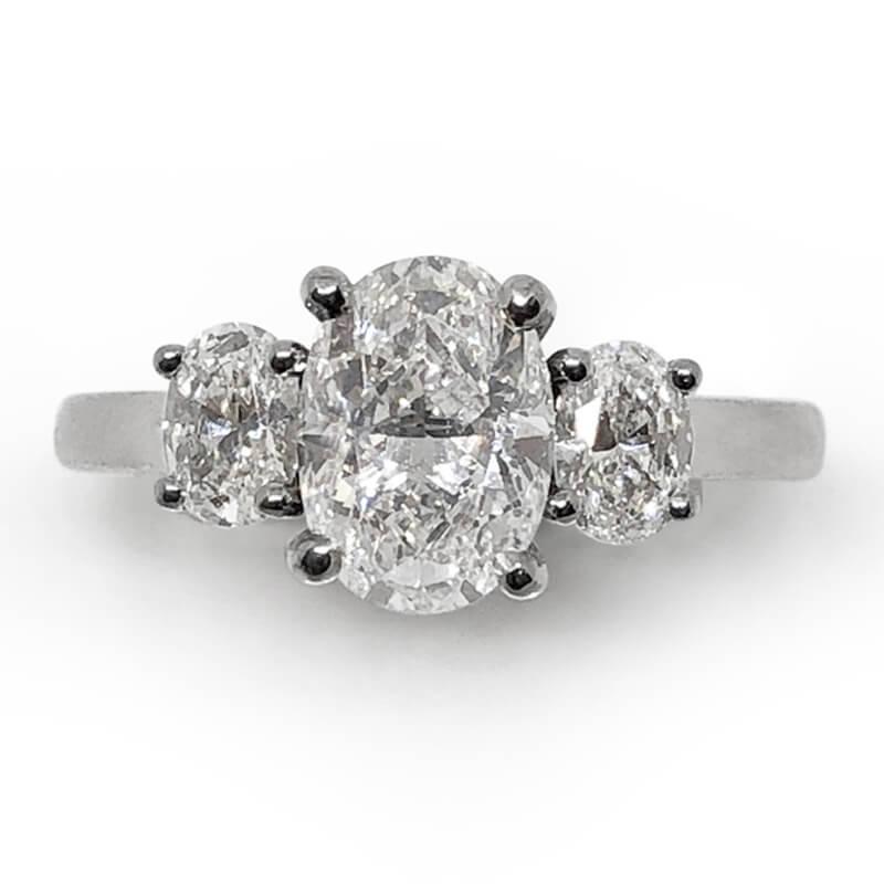 Triple Oval Diamond Ring