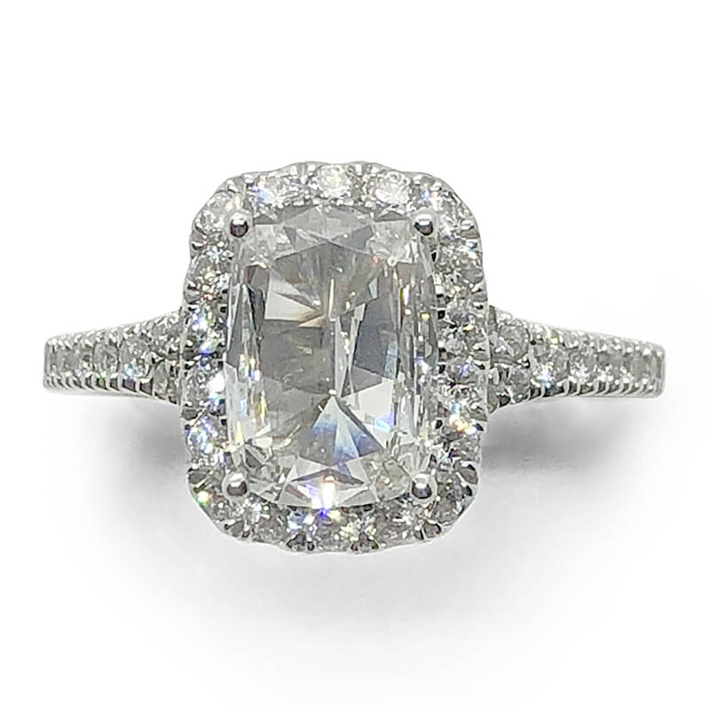 Diamond Halo Cushion Ring