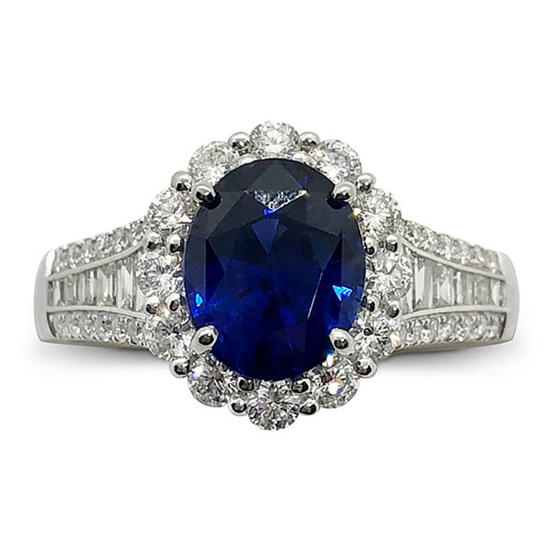 One of a Kind Sapphire & Diamond Ring