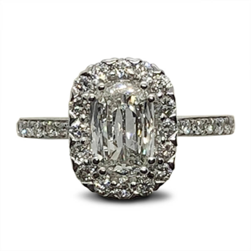 Surprise Diamond Cushion Cut Halo Ring