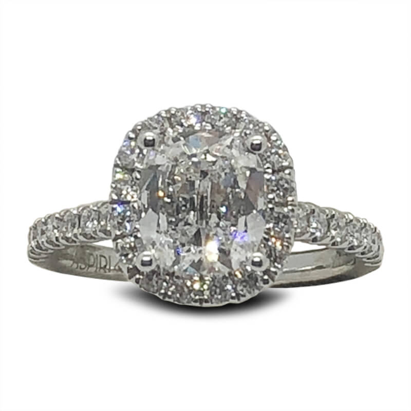 1.50ct. Diamond Halo Engagement Ring
