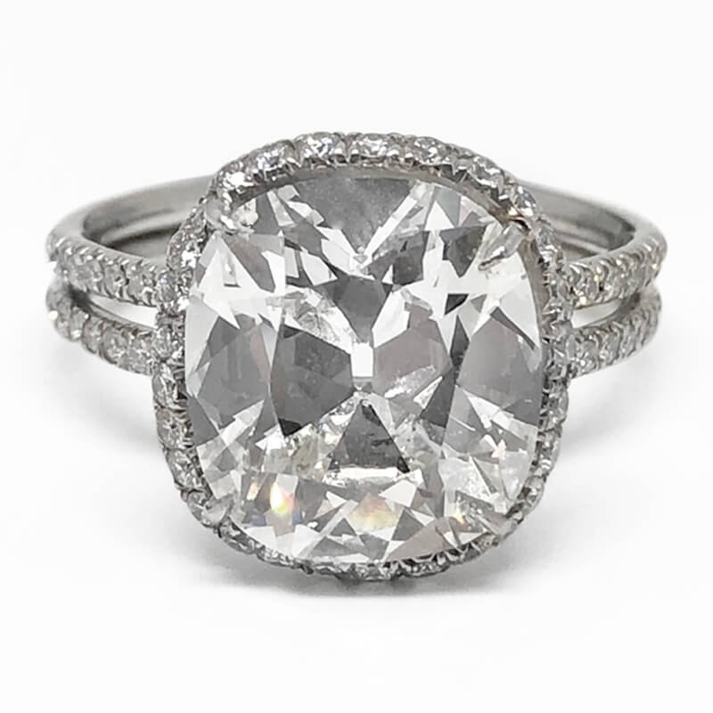 5.01ct. Cushion Cut Ring