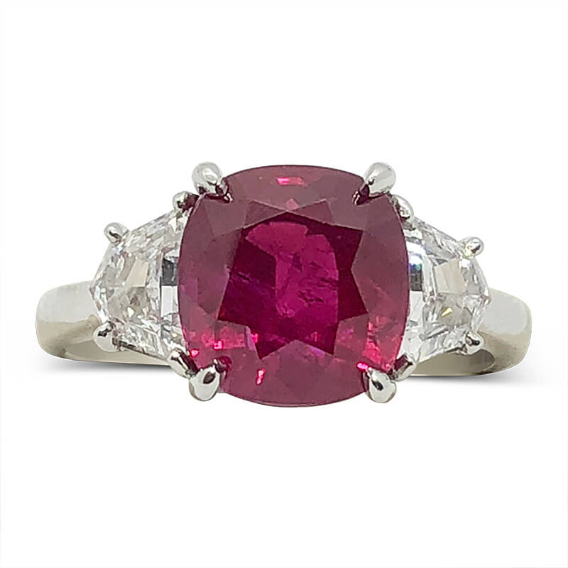 Vivid Red Mozambique Ruby Ring
