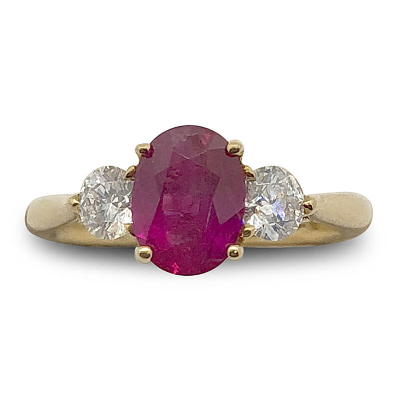18kt. Yellow Gold Classic Ruby Ring