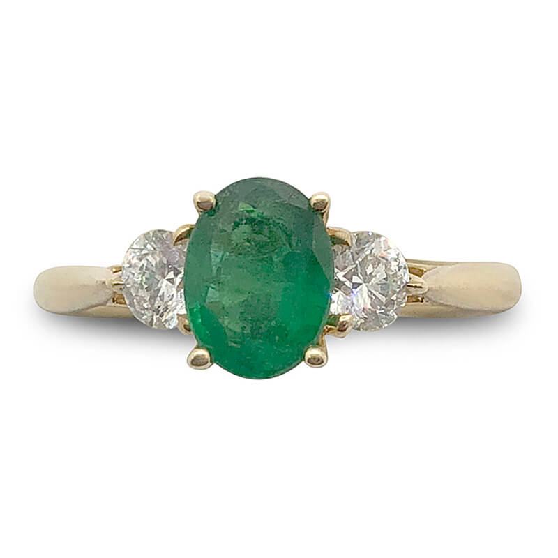 18kt. Yellow Gold Classic Emerald Ring