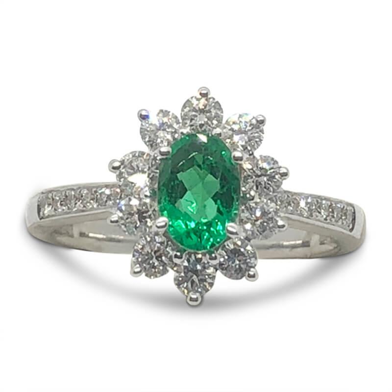 Fine Green Brazilian Emerald Ring