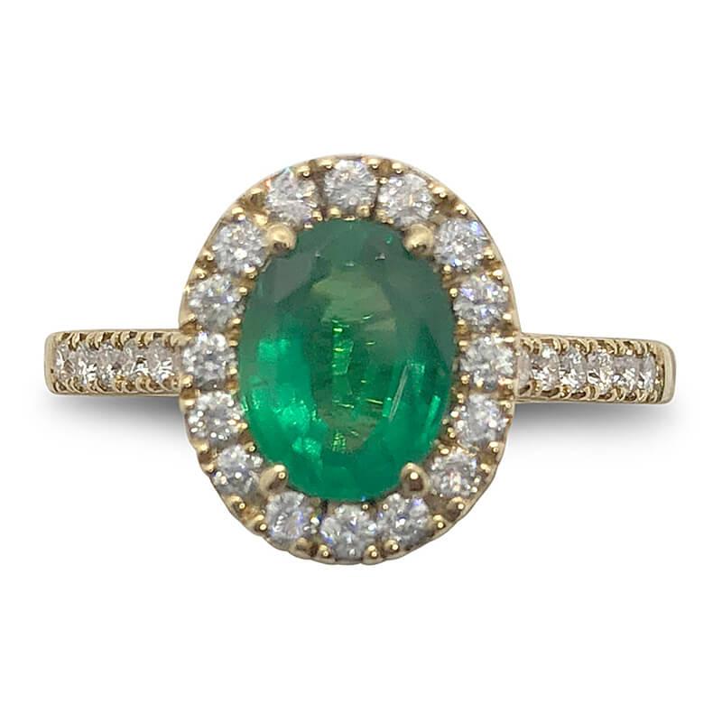 Brazilian Emerald & Diamond Ring
