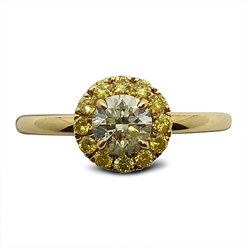 18kt. Yellow Gold Yellow Diamond Ring