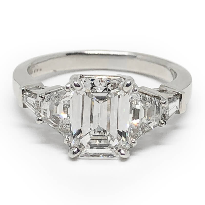 Emerald Cut Multi Diamond Ring