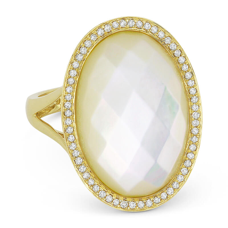 Mother of Pearl & Diamond Ring