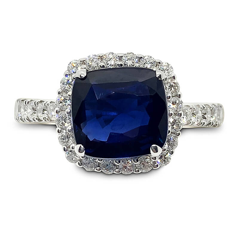 Unheated Natural Blue Sapphire Ring