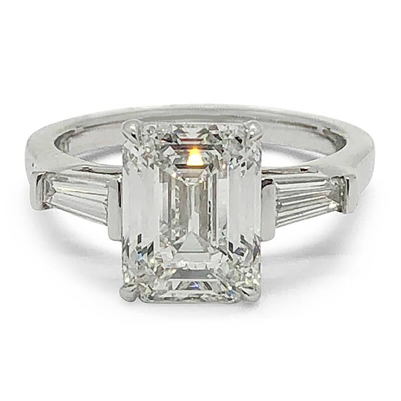 Emerald Cut Handmade Diamond Ring