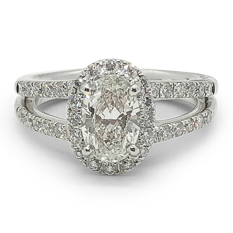 One Carat Oval Diamond Ring