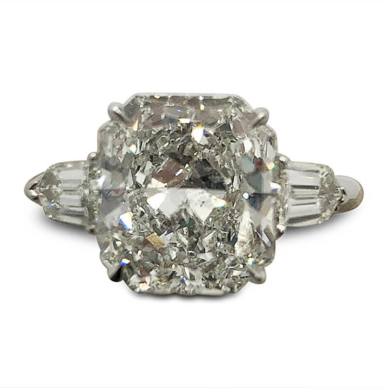4.48ct. Radiant Cut Diamond Engagement Ring