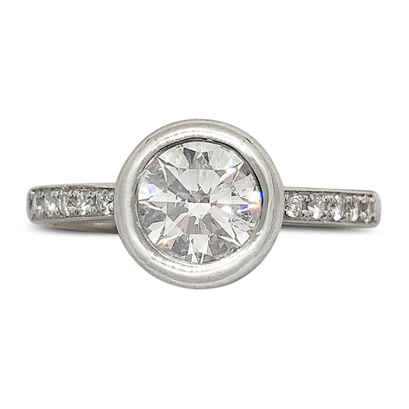Bezel Set Solitaire Diamond Ring