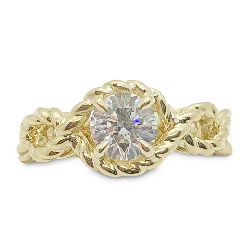 18kt. Yellow Gold Rope Style Engagement Ring