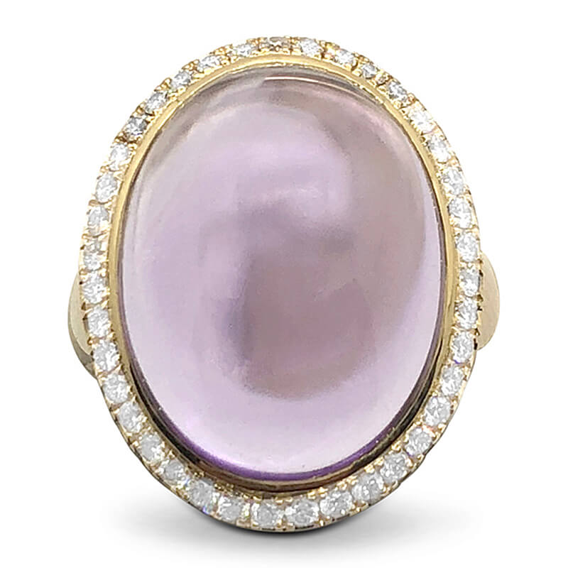 Large Cabochon Amethyst Ring