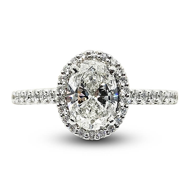 Platinum Tulip Gallery Engagement Ring