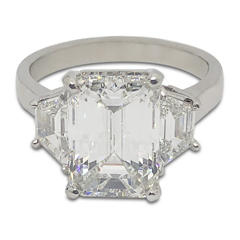 4.02ct. Emerald Cut Diamond Ring