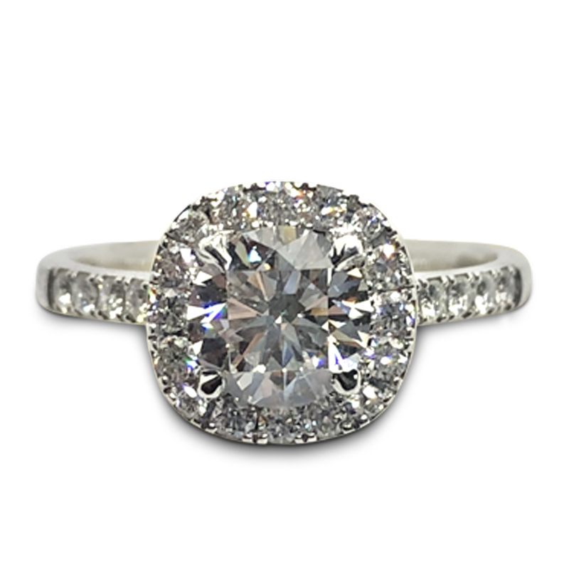 1.01ct. Forevermark Diamond Halo Ring
