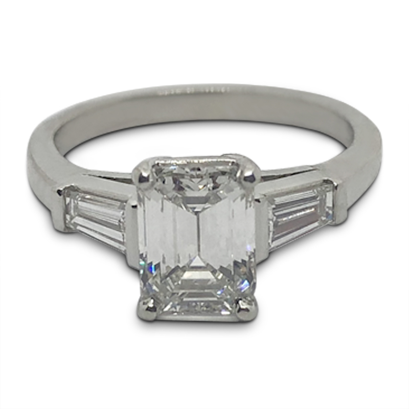 1.52ct. Emerald Cut Diamond Ring