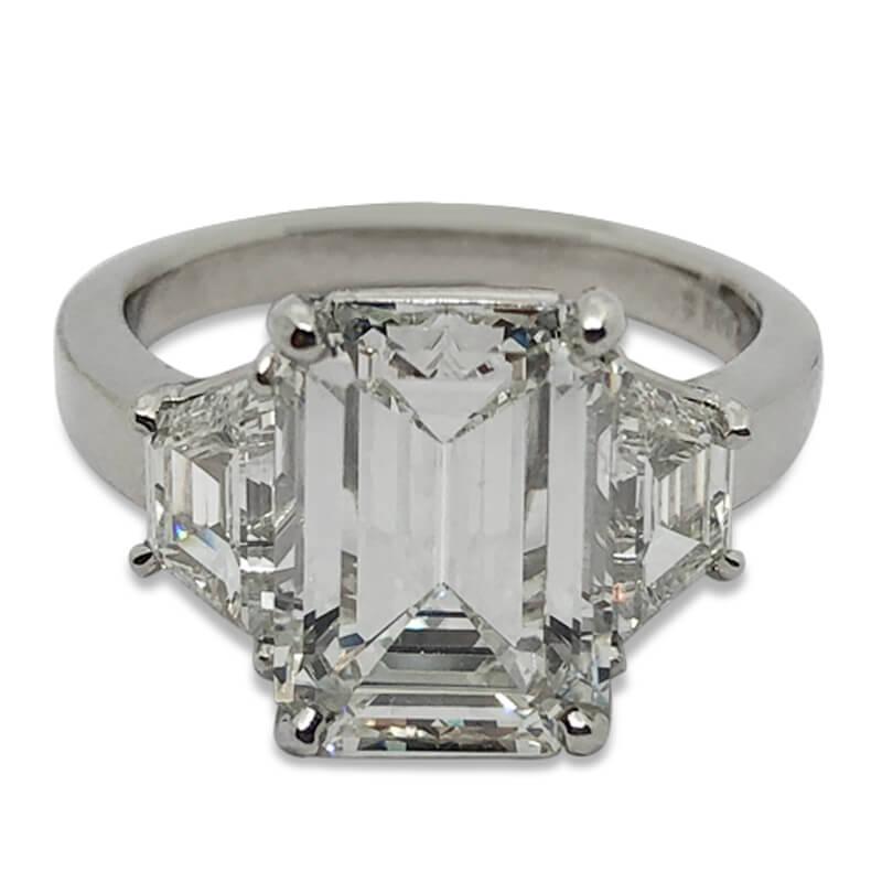 4.00ct. Emerald Cut Diamond Engagement Ring