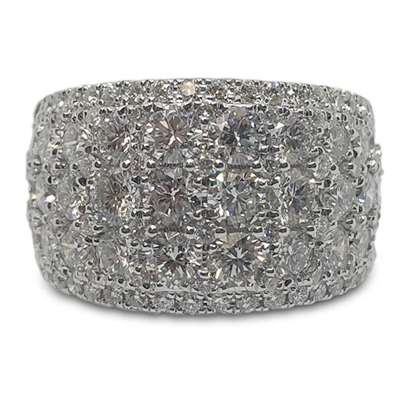 3.65ct. 5 Row Diamond Band