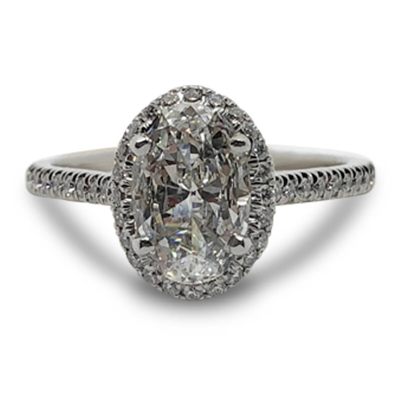 1.01ct. Oval Halo Diamond Ring