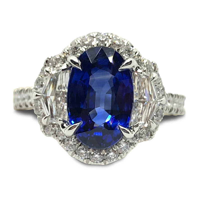 3.31ct. Oval Sapphire Ring