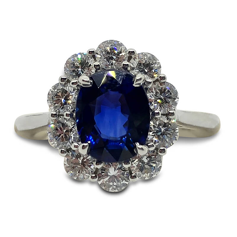 2.02ct. Oval Sapphire Ring