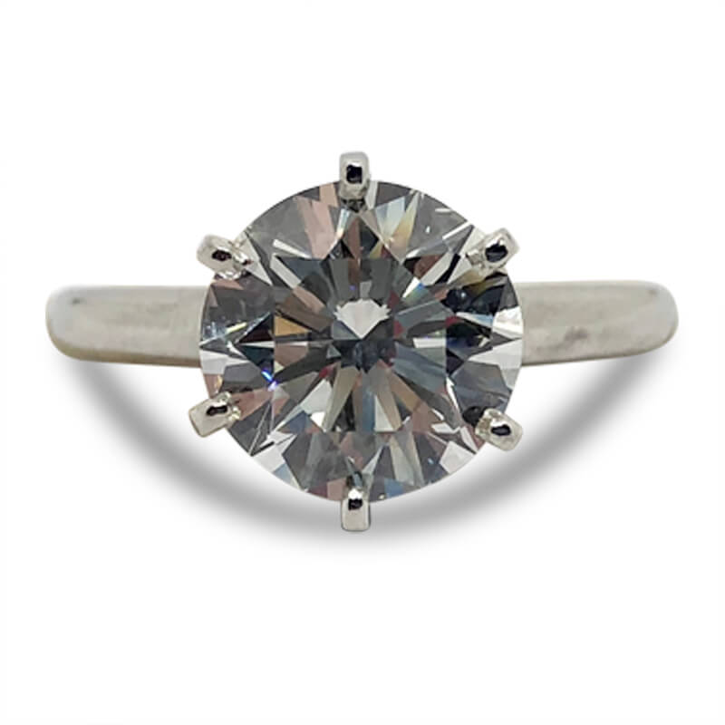 2.82ct. Solitaire Engagement Ring
