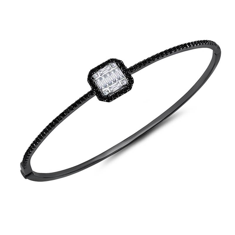 Halo Top Black/White Diamond Bracelet